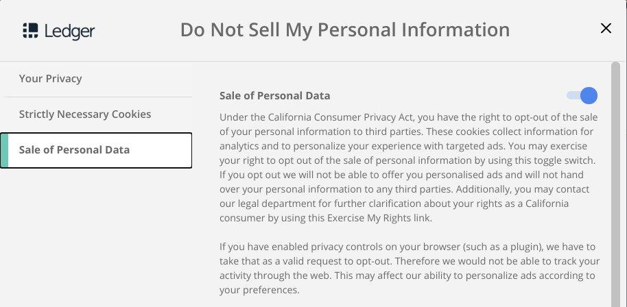 ledger privacy
